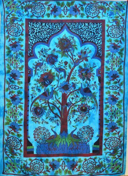Wandtuch Lebensbaum im Garten der Freude