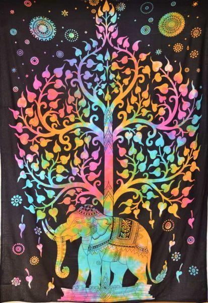 Wandbehang Elefant Lebensbaum