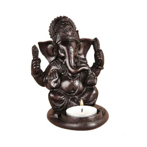 ganesha elefantengott indisch teelicht kerzenhalter