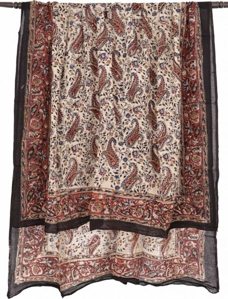 Sarong in Beige mit Paisley Muster