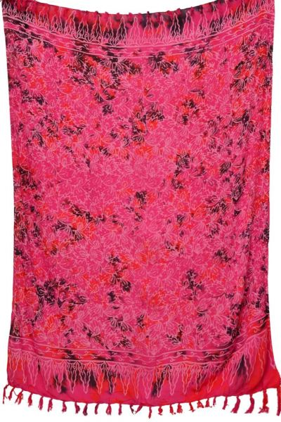 Pinkfarbiger Batik Sarong