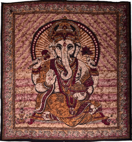 Große Ganesha Wachsbatik Tagesdecke