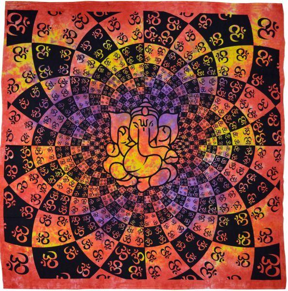 Ganesha Om Batikdecke