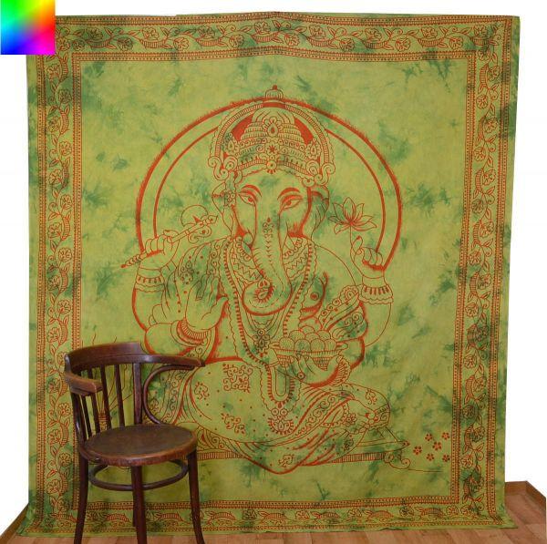 Ganesha Wandtuch Deko-Tuch indische Tücher