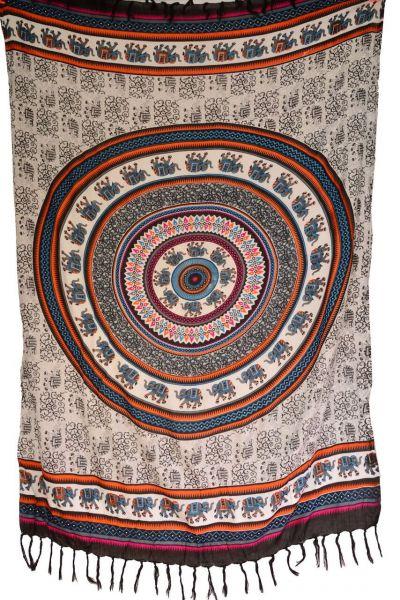 Sarong Elefanten-Mandala Print MotivLunghi Pareo Tuch