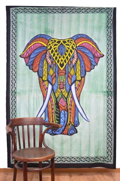 Elefant indisches Wandtuch